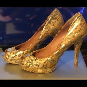 Vince Camuto faux Snake skin heel